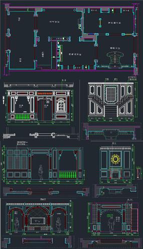 整木商场设计CAD