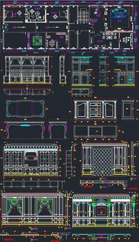 經典整木展廳設計CAD