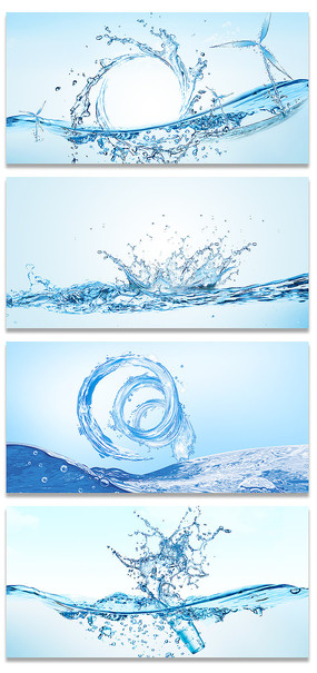 夏日清爽冰块海洋海底水溅素材