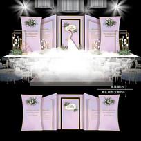 粉色大理石纹主题婚礼效果图设计梦幻婚庆