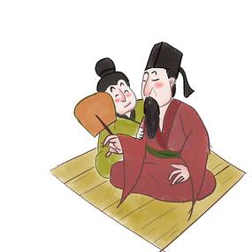 手绘中国风校园文化尊师插画元素
