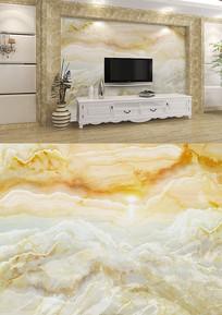 黄色欧式大理石电视背景墙