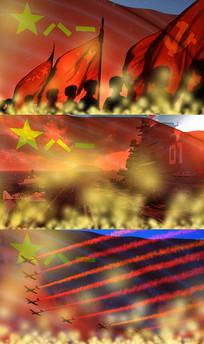 歌曲强军战歌舞台背景视频素材