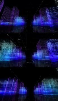 科幻全息未来粒子城市循环视频模板