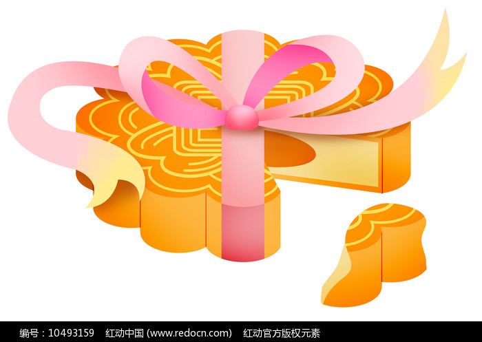 原创元素手绘礼品月饼图片