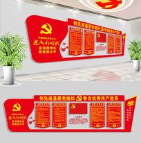 社区党建文化墙党员活动室