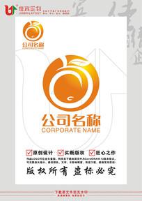 水果脐橙鲜果LOGO标志设计