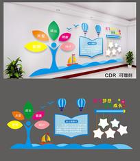 简约文明幼儿园文化墙