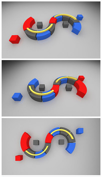 S型沙发效果图模型