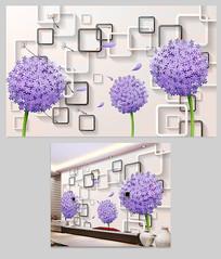 花朵3D电视背景墙设计