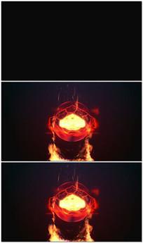 火焰燃烧LOGO片头视频模板