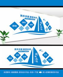 简约企业走廊文化墙设计