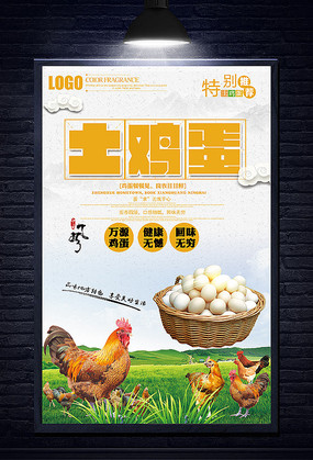 创意农家土鸡蛋海报设计