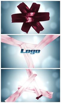 简洁优雅丝绸 logo片头视频模板