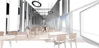 精细PSD分层餐厅拼贴风效果图