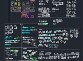 橱柜CAD模块三维效果素材
