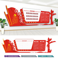 党员之家活动室文化墙