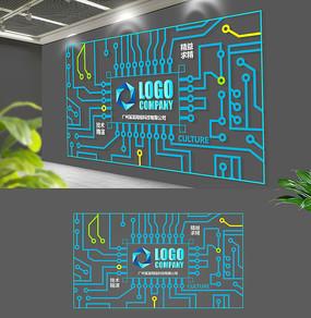 电路板现代科技精神企业形象墙