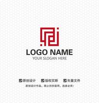 FJ字母简约LOGO设计