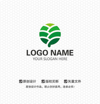 Y字母绿色环保农业LOGO设计