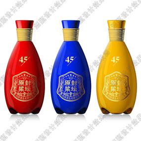 封坛原浆酒系列酒瓶设计效果图