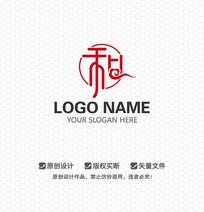 和字中国风LOGO设计