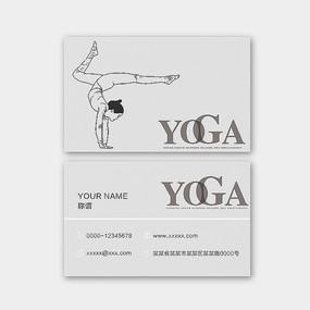 原创手绘瑜伽名片