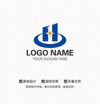 H字母建筑LOGO设计