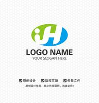 JH字母LOGO设计