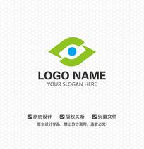 LJ眼睛商业医疗LOGO设计
