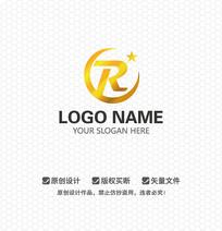 R字母金融LOGO设计