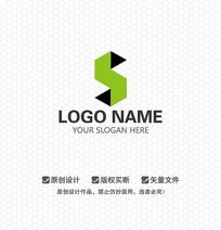 S字母简约LOGO设计