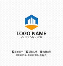 W字母房地产LOGO设计