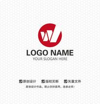W字母娱乐LOGO设计