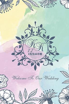 婚礼迎宾水牌设计