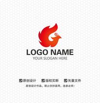 火焰凤凰LOGO设计