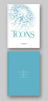 商务圆点企业宣传画册封面