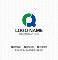 RQ字母放大镜LOGO设计