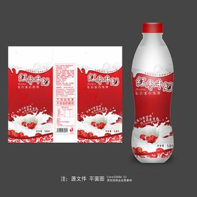 红枣牛奶瓶标签设计