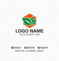 树叶蜂巢餐饮LOGO设计