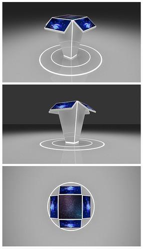 原创科技平板电脑展示台效果图