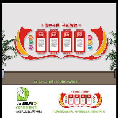 创意红色企业文化墙