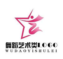 舞蹈艺术五角星LOGO
