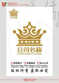 皇冠王冠图形图案LOGO标志设计