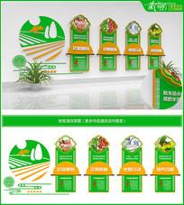 绿色清新校园学校食堂文化墙