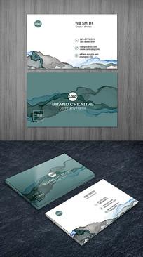 抽象水墨意境名片设计