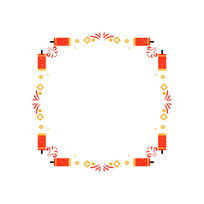 紅色鞭炮邊框圖案