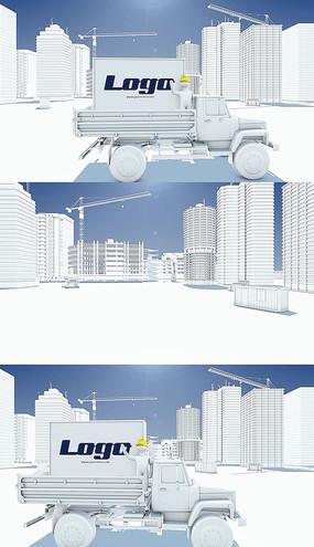 建筑施工现场建筑标志logo片头pr模板