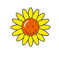 笑脸向日葵图案