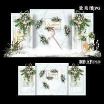 小清新INS风主题婚礼效果图色设计婚庆